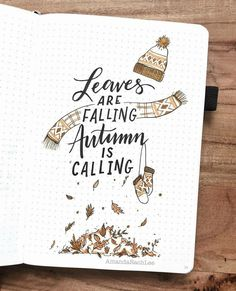Fall quotes – Handlettering & bullet journal – Come Back to School Bullet Journal Inspo, Autumn Bullet Journal, Bullet Journal Quotes, Bullet Journal 2019, Bullet Journal Spread, Bullet Journal Layout, Bullet Journals, Junk Journal, Journal Covers