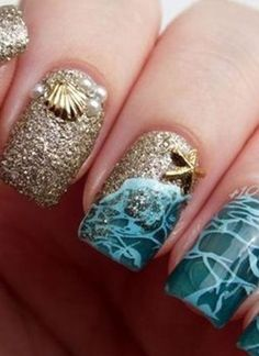 Check out these totally #glam gel nail designs that will make you want to do your nails ASAP! Which design do you like best? #somuchawesomeness   www.platosclosetkitchener.com