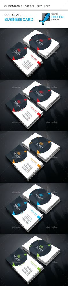 Corporate Business Card Template PSD #design #visitcard Download: http://graphicriver.net/item/corporate-business-card/13091539?ref=ksioks