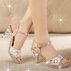 32.27$  Watch here - https://alitems.com/g/1e8d114494b01f4c715516525dc3e8/?i=5&ulp=https%3A%2F%2Fwww.aliexpress.com%2Fitem%2FENMAYER-size-35-39-High-quality-high-heels-women-sandals-sexy-Colored-stones-platform-summer-party%2F32348262109.html - ENMAYER size 35-39 High quality high heels women sandals sexy Colored stones platform summer party wedding shoes woman Summer 32.27$