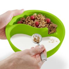Never Soggy Cereal Bowl. Jamie, you need this for Corey! Lol