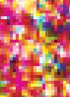 Pixel Punch Wrapping Paper by Cristian Zuzunaga.
