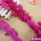 2yd amaranth chiffon floral lace fabric sewing trim craft DIY doll dress L857 - #craft, #dress, #floral, amaranth, Chiffon, doll, fabric, L857, Lace, Sewing, trim