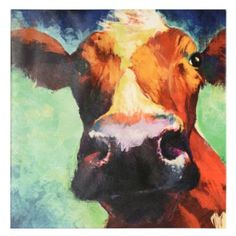 Get in the thick of country living with the Up Close and Personal Canvas Art Print! Enjoy this colorful close-up of a cow and inspire a little farm life into your home. #kirklands #CountryLivin