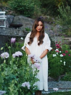 Standing in front of a border full of Lilac Pom Pom poppies, grown from seed Growing Seeds, Early Spring, Flower Beds, Poppies, Lilac, White Dress, Autumn, Garden, Flowers