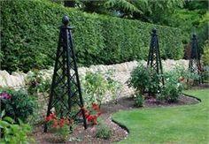 Pyramid trellis Rose Pillar Malmaison - Garden Obelisks - www. Obelisk Trellis, Garden Trellis, Rose Trellis, Classic Garden, Garden Structures, Garden Spaces, Garden Projects, Garden Inspiration, Garden Furniture
