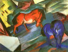 Franz Marc, Cavalli rossi e blu