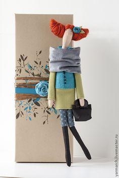 Кукла Тильда горожанка - тильда,бирюзовый,кукла Тильда,интерьерная кукла