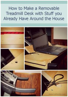How to Make a Removable Treadmill Desk with Stuff you Already Have Around the House