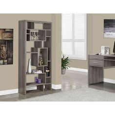 Monarch Dark Taupe Reclaimed-look Bookcase (Dark Taupe), Grey