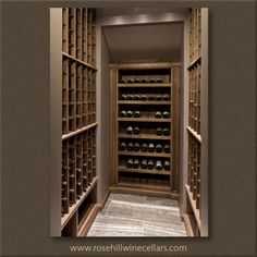 Walnut Wine Cellar with Beeswax Finish. More #wine cellars at Rosehill Wine Cellars #wineroom #wineracks #winestorage