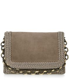 Olive Suede Crochet Bag One&Only