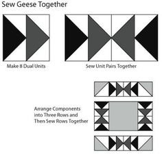 Make Flying in Circles, an Easy Flying Geese Quilt Block Pattern: Assemble the Flying in Circles Quilt Block