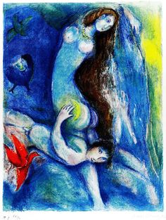 """Then... he spent the night with her"" (Four Tales from One Thousand and One Nights), Marc Chagall, 1948"