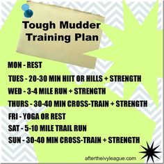 Tough Mudder Training Plan!