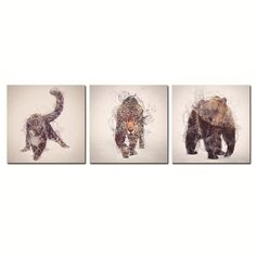 Gorgeous Animals Canvas Printings For Room Wall Modern Paintings Wall Pictures…