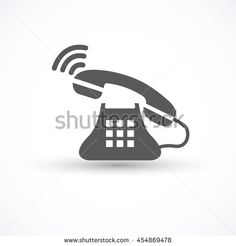 Phone icon incoming call isolated on white background. Telephone symbol for your design, logo, application, UI, Vector illustration. - stock vector