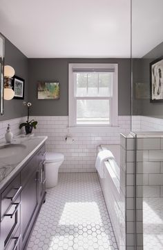 34 Guest Bathroom Makeover Ideas You Must Have Guest Bathroom Ideas Impressive Brilliant however develop into the trickiest thing once it comes to implementation. Designing a gorgeous and […] Guest Bathrooms, Upstairs Bathrooms, Family Bathroom, Master Bathroom, Mint Bathroom, 1920s Bathroom, Modern Bathrooms, Bathroom Mirrors, Small Bathrooms