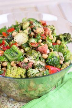 Veggie Overload Chickpea Salad