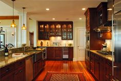 Love these cabinets & counters!!