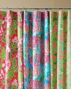 Lilly Pulitzer Sister Florals Shower Curtain Lilly Pulitzer  Http://smile.amazon.