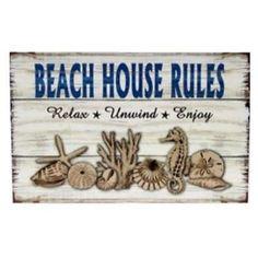 Beach House Rules Sign Relax Unwind Enjoy