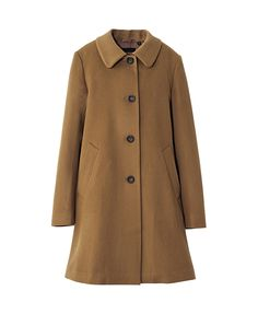 WOMEN WOOL CASHMERE A-LINE COAT