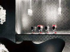 Wallpaper grossy silver geometric block by WallDecalSticker