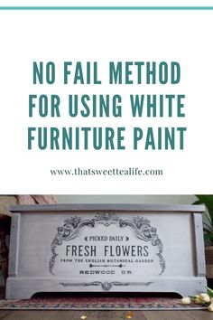 I decided to refinish it using all my preferred products and using my preferred techniques just so I could show you a NO FAIL method for using white furniture paint! Ill break down why I recommend what I do and give you other options as well. White Painted Furniture, Painting Furniture Diy, White Paints, Painted Furniture, White Painted Dressers, Furniture, Furniture Inspiration, White Furniture, Off White Paints