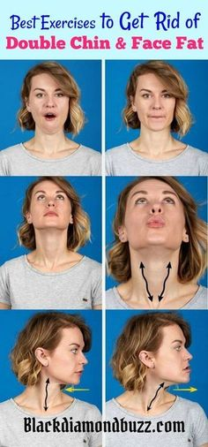 How to Get Rid of Double Chin and Chubby Cheeks Fast. Try these best exercises and home remedies to lose fat on the face. #HowtoLoseBellyFatFast