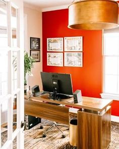 Decorate home office Built Ins Heres Sneak Peek Of My Husbands Home Office Arent Those Colors Dreamy Pinterest 776 Best Decorate Home Office Images In 2019 Office Decor Home