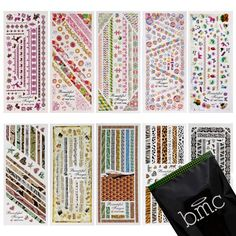 BMC 10 Sheet Nail Art Water Transfer Stickers Temporary Liquid Nail Tattoos Decoration Effects Nail Hydroplaning Water Decals * You can get additional details at the image link. Note:It is Affiliate Link to Amazon.