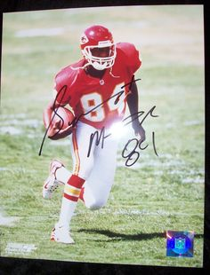 Sylvester Morris Autographed Picture NFL Kansas City Chief with COA  #KansasCityChiefs