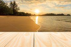 Wood table top on sunrise by Pushish Images on @creativemarket
