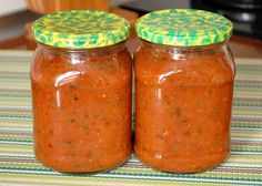 A fakalány velem van! - - - Kipróbált receptek gyűjteménye: Spagettiszósz télire Canning Pickles, Vegetarian Recipes, Healthy Recipes, Ketchup, Salsa, Good Food, Food And Drink, Homemade, Vegan