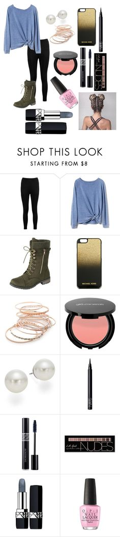 """""""hiking day tomorrow"""" by peanut03411 ❤ liked on Polyvore featuring Boohoo, Gap, MICHAEL Michael Kors, Red Camel, AK Anne Klein, NARS Cosmetics, Christian Dior, Charlotte Russe and OPI"""