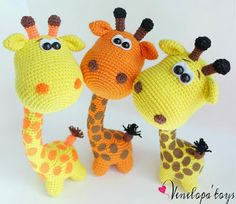 So cute! Crochet giraffe - no pattern 'inspiration'!Игрушки ручной работы