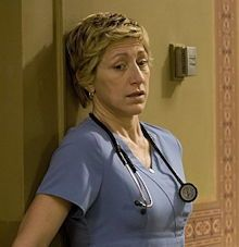 Article: Creative intellect as a marker for genetic predisposition to high anxiety conditions. [Photo: Edie Falco in Nurse Jackie.]