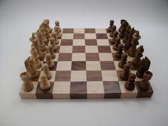 Handmade Chess Set by JK Creative Wood.  American Made. 2013 Buyers Market of American Craft. americanmadeshow.com