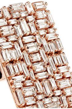 Suzanne Kalan - 18-karat Rose Gold Diamond Ring - 7