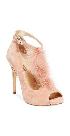 Blush feather heels #sponsored