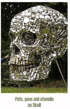 Skull out of metal products, how awesome is that!!!!