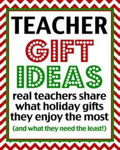 Teacher Gift Ideas – Over 50 Teachers Share What Gifts They Like at Love From The Oven
