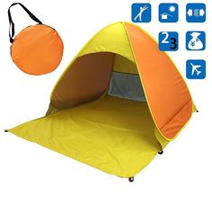 Sun Shade Tent, Baby Beach Tent, Fishing Tent, Tent Room, Beach Shade, 2 Person Tent, Waterproof Tent, External Lighting, Kids Tents