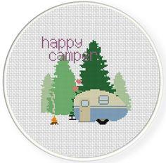 Free Happy Camper Cross Stitch Chart | Craftsy