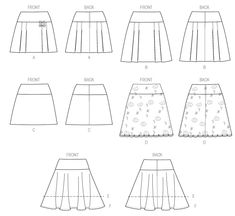 M7022 | Misses' Skirts | New Sewing Patterns | McCall's Patterns