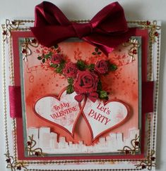 Love in the City with Decoupage by Pamela Horton: This is a very cute idea for a Valentine card design, and one, I can see, will fulfil…