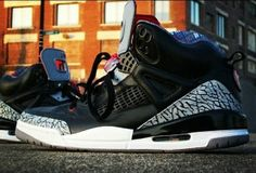 buy popular 67381 1a1d6 Last year s Black Friday drop gets a hybrid boost with the Jordan Spizike  Black Cement Custom. Creator SAB-ONE reworks the