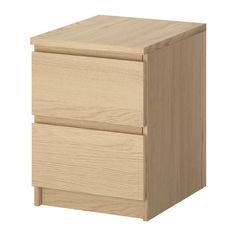 MALM Chest with 2 drawers IKEA Can also be used as a nightstand. Extra roomy drawers. Smooth running drawers with pull-out stop. $49.99