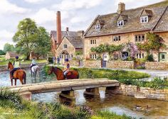 Gibsons puzzel Cotswold Villages (2 x 1000)